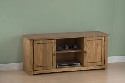 Product photograph showing Santiago 2 Door 1 Shelf Flat Screen Tv Unit