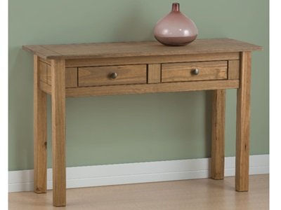 Product photograph showing Santiago 2 Drawer Console Table