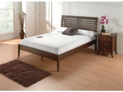 Julian Bowen Santiago 4 6 Double Wenge Slatted Bedstead Wooden Bed