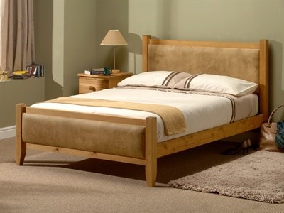 Windsor Savoy (Antique Wax and Beige) 4 6 Double Wooden Bed