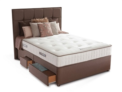 Sealy Jubilee Ortho Divan Set 5 King Size Zip And Link Caramel Platform Top - No Drawers Divan