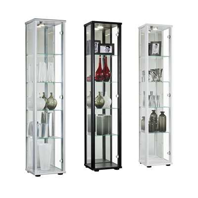 Product photograph showing Selby 1 Door Display Cabinet No Lock