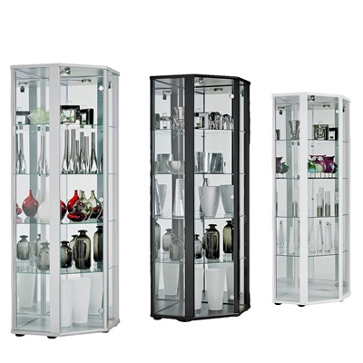 Product photograph showing Selby Corner Display Cabinet