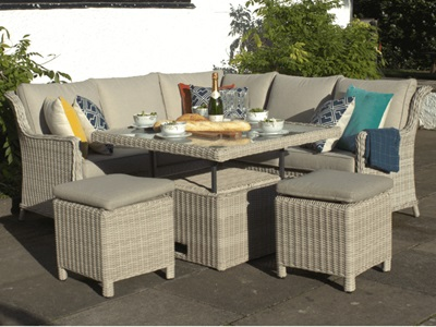 Product photograph showing Seychelles Corner Dining - Lounging Set