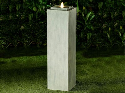 Product photograph showing Shiloh Large Water Feature With 1 Led - Light Grey