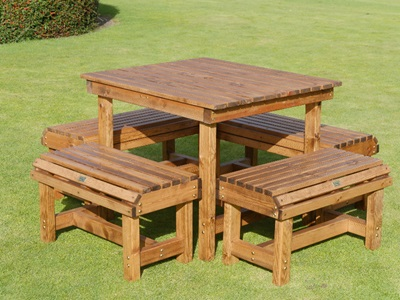 Product photograph showing Dales 4 Seat Small Forms Bistro Set