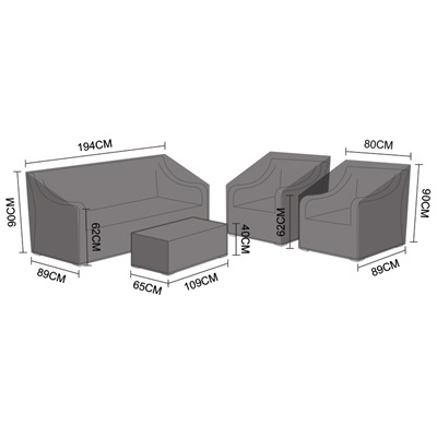 Product photograph showing Sofa Set Cover - Oxley 3 Seater