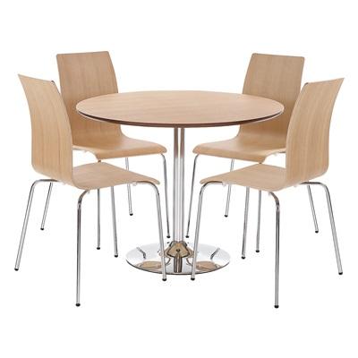 Product photograph showing Soho Dining Set Oak Veneer