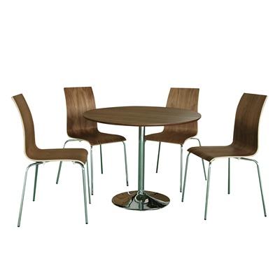 Product photograph showing Soho Dining Set Walnut Veneer