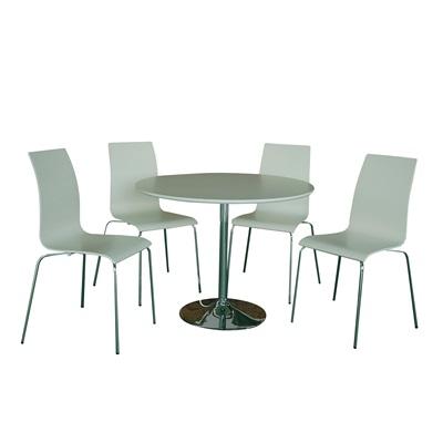 Product photograph showing Soho Dining Set White