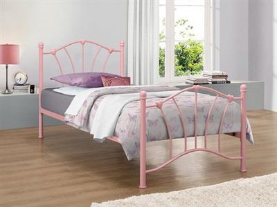 Birlea Sophia Pink 3 Single Pink Metal Bed