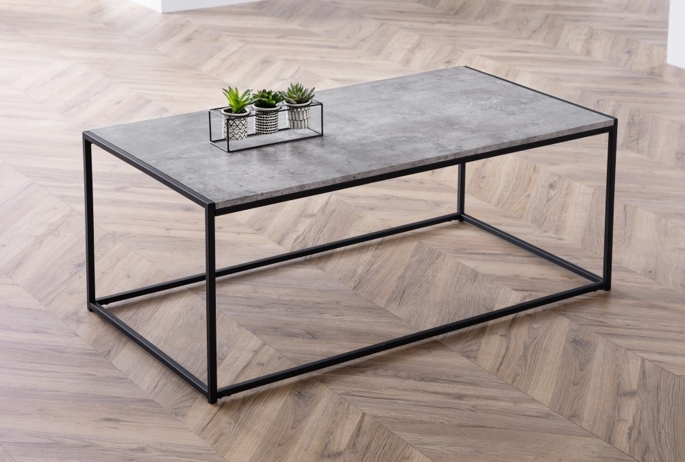 Product photograph showing Staten Concrete Coffee Table