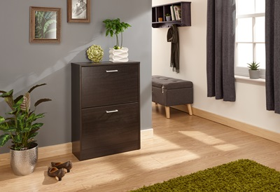 Product photograph showing Stirling Two Tier Shoe Cabinet