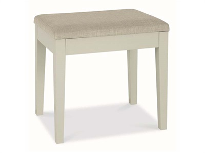 Bentley Designs Ashby Cotton Stool White Flat Packed Stool