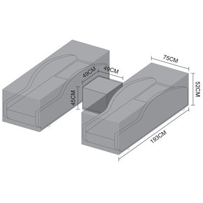 Product photograph showing Sun Lounger Set Cover - Madison