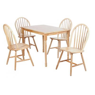 Product photograph showing Sutton Dining Set Natural