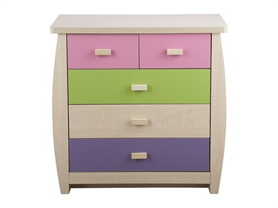GFW Sydney Pastel 5-Drawer Chest  Drawer Chest