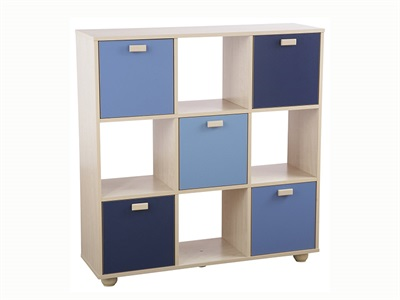 GFW Sydney Blue 3x3 Storage Unit Drawer Chest