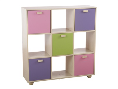 GFW Sydney Pastel 3x3 Storage Unit  Drawer Chest