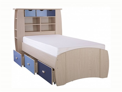 GFW Sydney Blue Storage Bed  3 Single Kids Bed