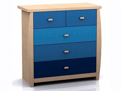 GFW Sydney Blue 5 Drawer Chest Blues Drawer Chest