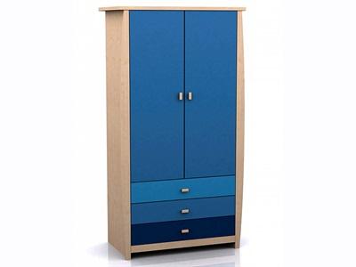 GFW Sydney Blue Wardrobe (3 Drawer) Blues Wardrobe