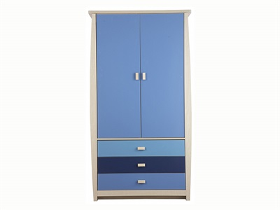 GFW Sydney Blue 3-Drawer Wardrobe Wardrobe