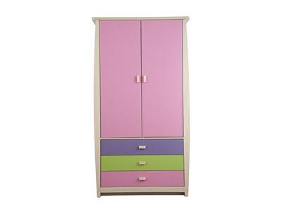 GFW Sydney Pastel 3-Drawer Wardrobe Wardrobe
