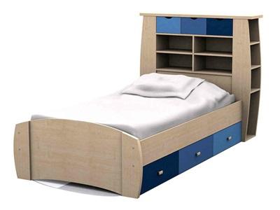 GFW Sydney Blue Storage Bed  3 Single Blues Kids Bed