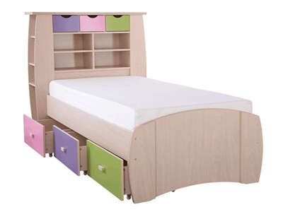 GFW Sydney Pastel Storage Bed 3 Single Kids Bed