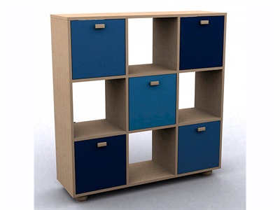 GFW Sydney Blue 3x3 Storage Unit Blues Drawer Chest