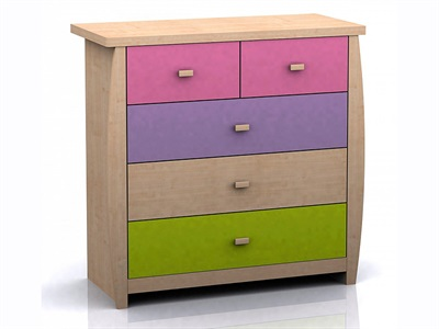 GFW Sydney Pastel 5 Drawer Chest  Pastel Drawer Chest
