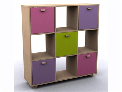 GFW Sydney Pastel 3x3 Storage Unit  Pastel Drawer Chest