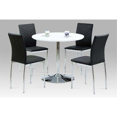 Product photograph showing Sylvia White High Gloss Bar Table