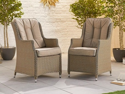 Product photograph showing Thalia Dining Chairs - Pair