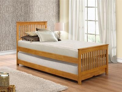 Birlea Toronto Guest Bed 3 Single Oak Stowaway Bed