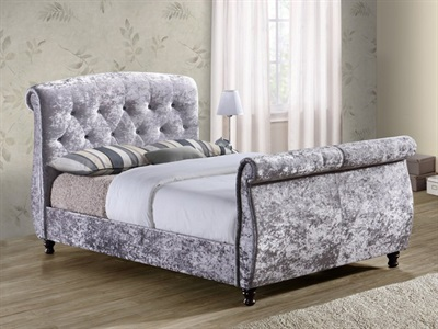 Birlea Toulouse Grey 4 6 Double Fabric Bed