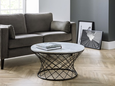 Product photograph showing Trevi Real Marble Coffee Table