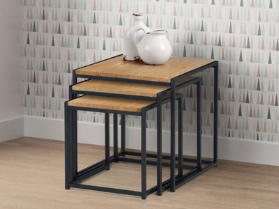 Product photograph showing Tribeca Nest Of 3 Tables