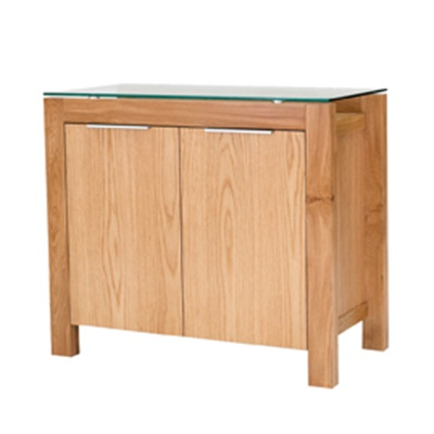 Product photograph showing Tribeca Sideboard White Oak