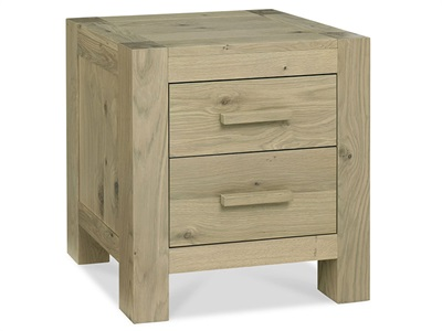 Bentley Designs Turin 2 Drawer Nightstand Bedside Chest