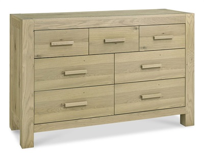 Bentley Designs Turin 4+3 Drawer Chest Aged Oak Drawer Chest