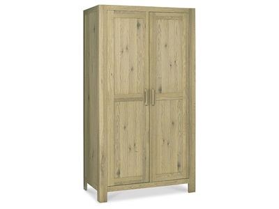 Bentley Designs Turin Double Wardrobe Aged Oak Wardrobe
