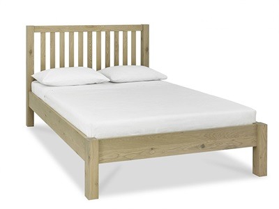 Bentley Designs Turin Low Footend Bedstead 4 6 Double Aged Oak Wooden Bed