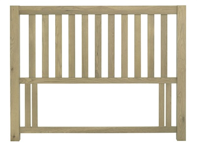 Bentley Designs Turin Slatted Headboard 4 6 Double Aged Oak Wooden Headboard