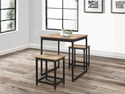 Product photograph showing Urban Compact Dining Table And Stool Set