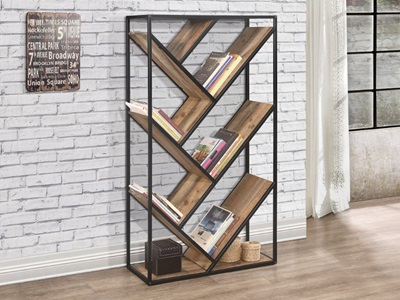 Product photograph showing Urban Diagonal Bookcase Rustic