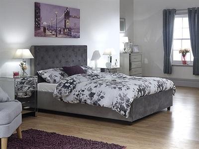 Product photograph showing Utah Fabric Ottoman