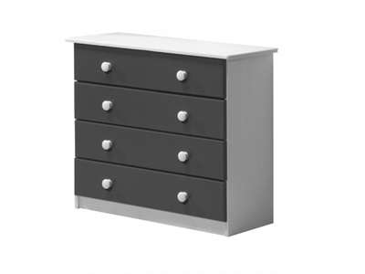 Verona Design Ltd Verona 4 Drawer Chest Whitewash Whitewash 4 Drawer Chest Drawer Chest