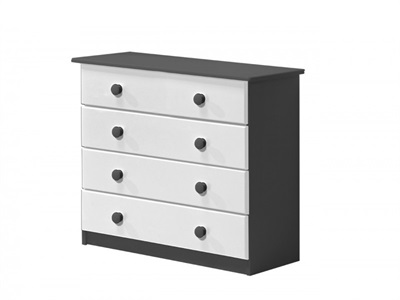 Verona Design Ltd Verona 4 Drawer Chest Graphite Graphite 4 Drawer Chest Drawer Chest